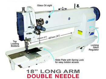 Consew Premier 2339RBL-18 Double Needle Long Arm Quilting Machine